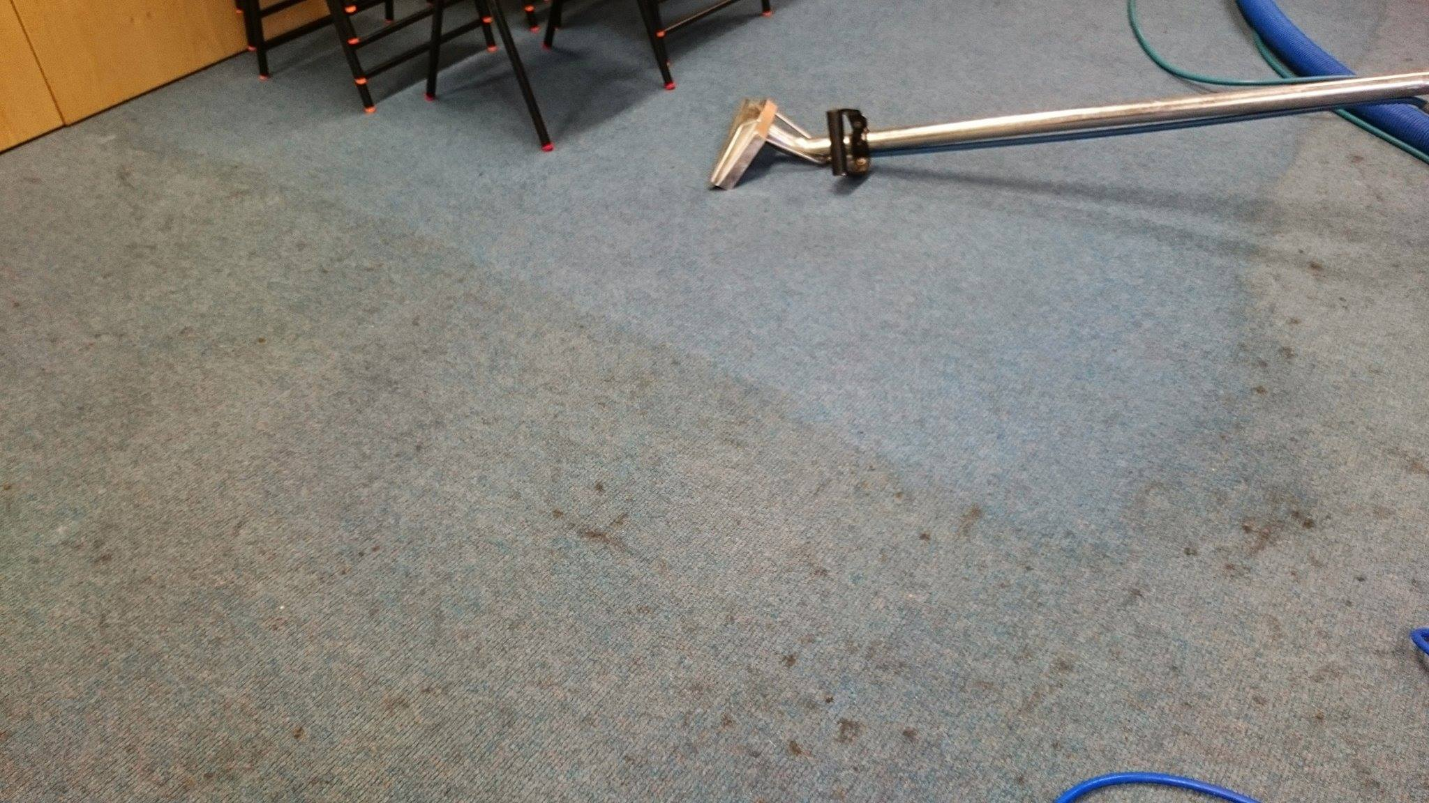 Carpet cleaning at a local school