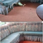 Before and After Caravan carpet clean